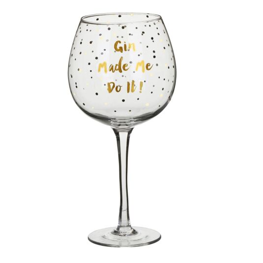 Gold Edition 'Gin Made Me Do It' Gin Balloon Glass
