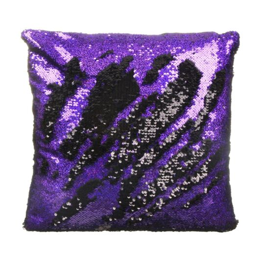 Purple/Black Sequin Cushion
