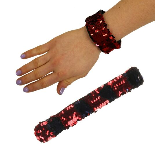 Red/Midnight Blue Sequin Mermaid Wristband