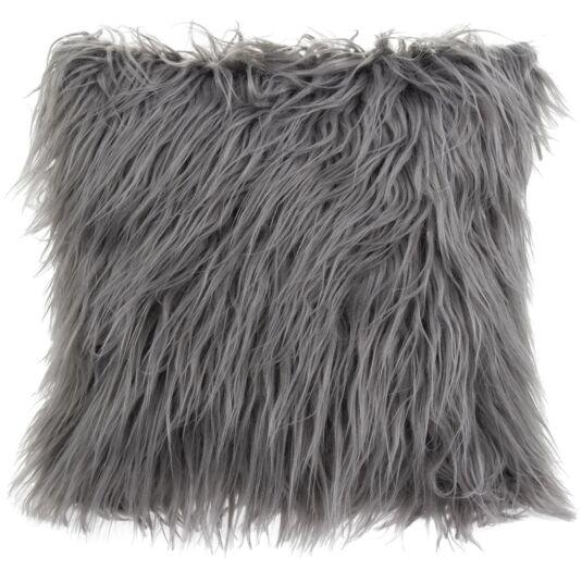 Grey Furry Cushion