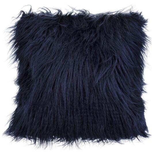 Navy Furry Cushion
