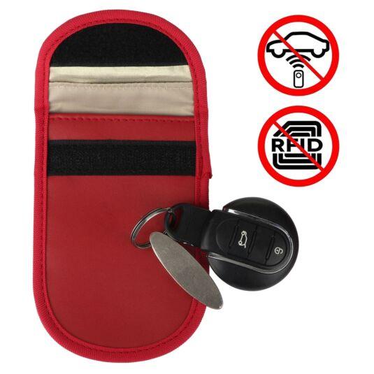 Car Key Signal Blocker Red Pouch