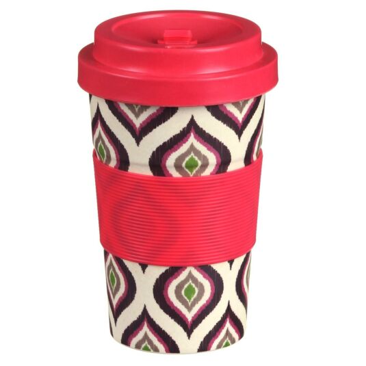 Small Geometric Slice Bamboo Travel Mug