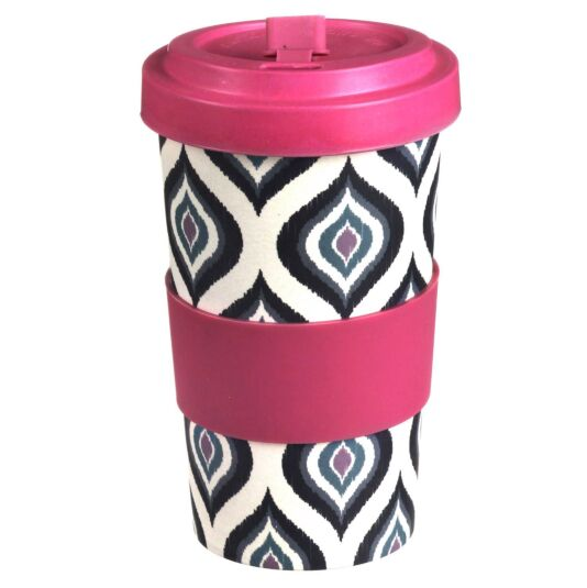Large Patterned Slice Bamboo Travel Mug