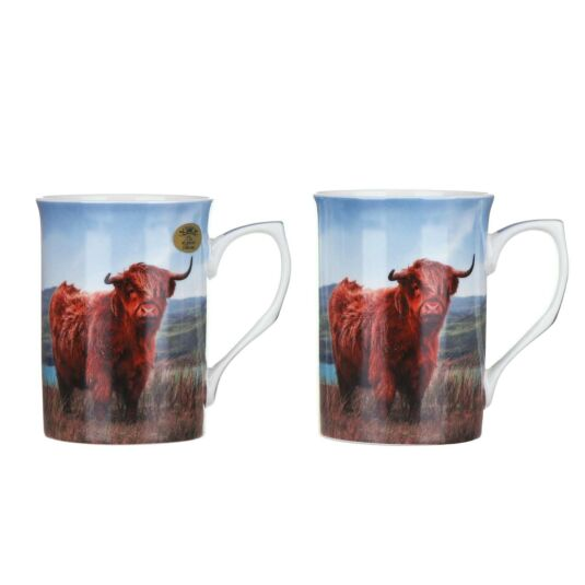 Highland Cow Set of 2 Boxed Mugs