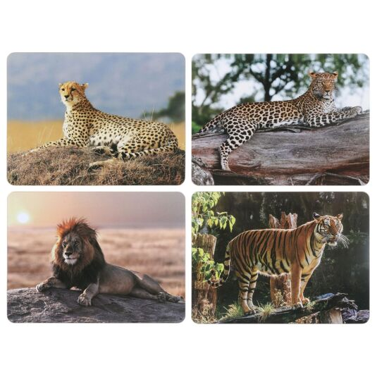 Safari Big Cats Set of 4 Placemats