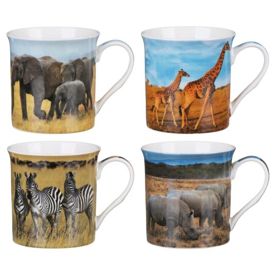 Savannah Set of 4 Mugs