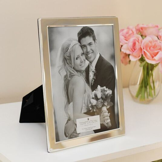 Silver Plated Wide Edge Photo Frame 10x8