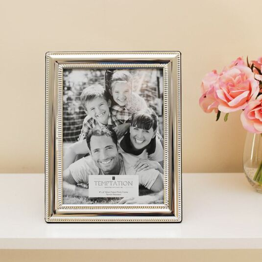 Silver Plated Bobble Edge Photo Frame 8x6