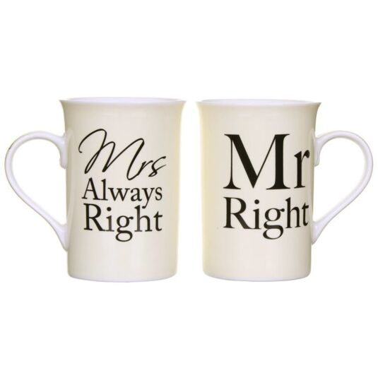 Mr & Mrs Right and Always Right Mugs