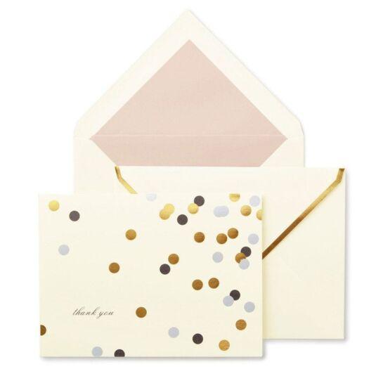 Confetti Dot Thank You Card Set