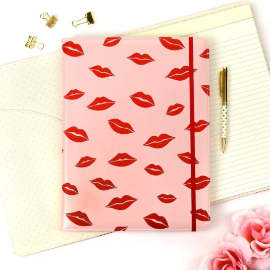 Lips Notepad Folio