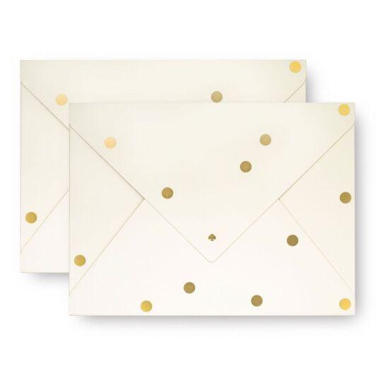 Set of Two Gold Dots Envelope Folio