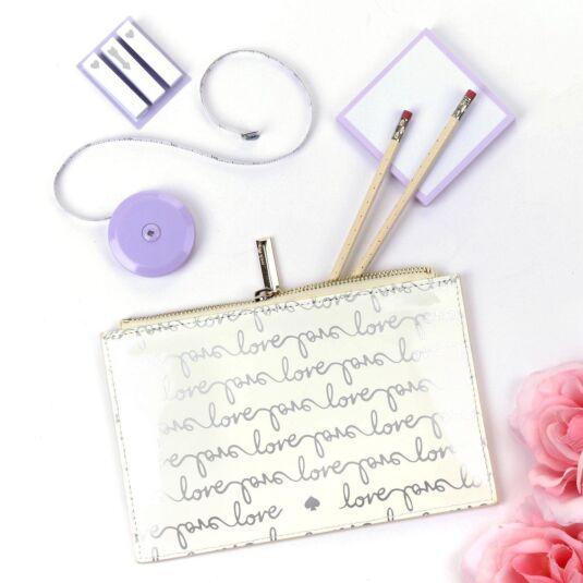 Love Script Bridal Pencil Pouch