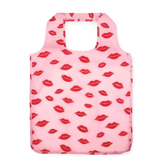 Lips Reusable Shopper Tote with Pouch