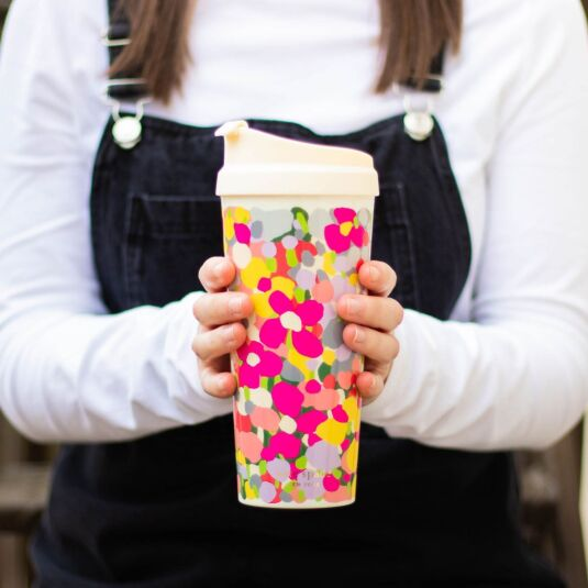 Floral Dot Thermal Mug