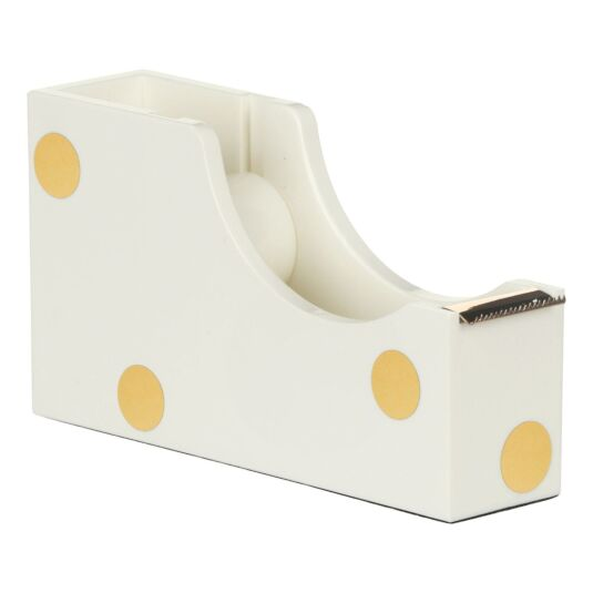 Gold Dot Acrylic Tape Dispenser