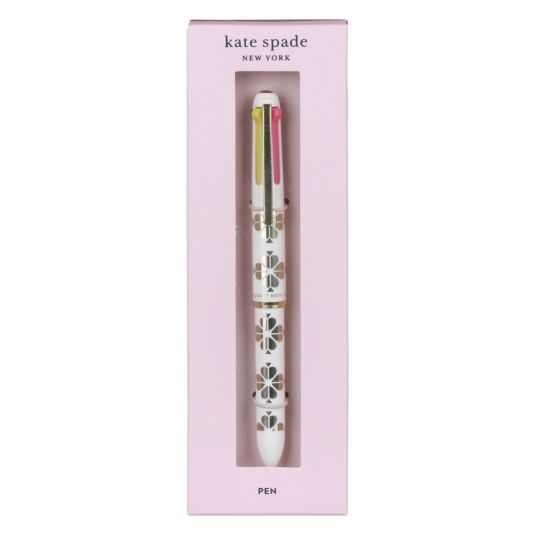 Gold Spade Flower Multi Click Gel Pen