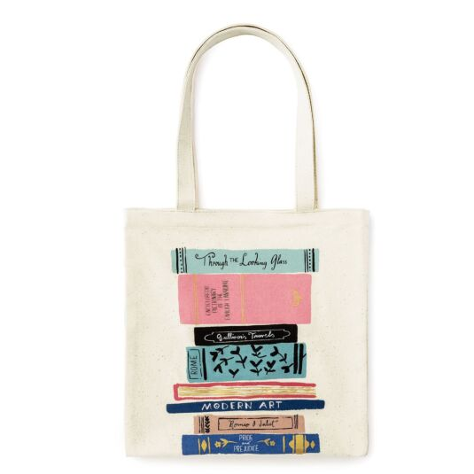 Stack of Classics Canvas Tote Bag