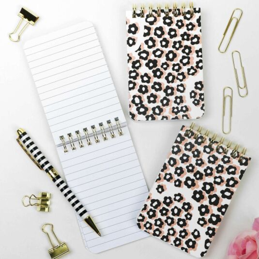 Flair Flora Set of Three Spiral Notebooks