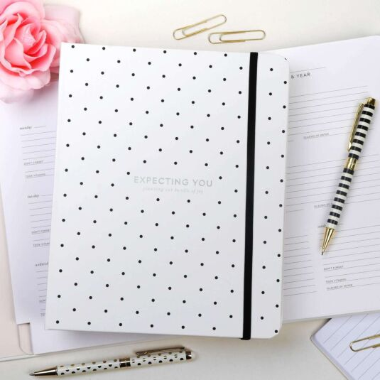 Black Dot Expecting You Baby Planner