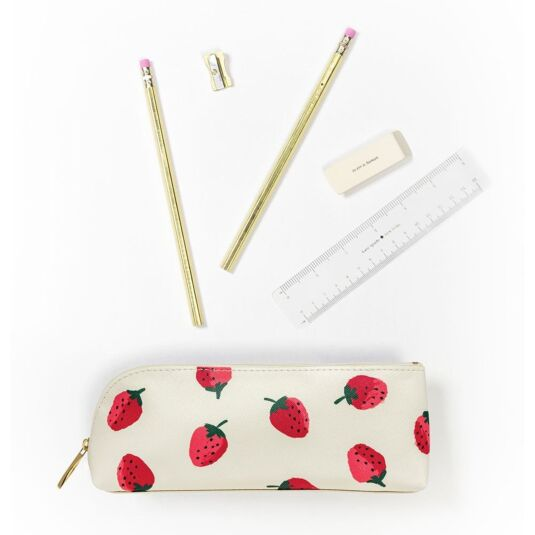 Strawberries Filled Pencil Case
