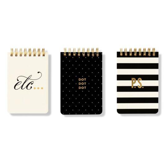 Etc. Set of Three Spiral Notepads