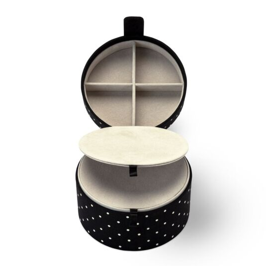 Black Dot Travel Jewellery Organiser Box