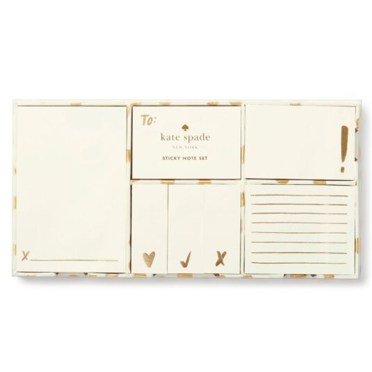 Gold Flamingo Dot Sticky Note Set