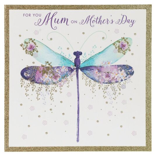 'For You Mum' Dragonfly Mother's Day Card