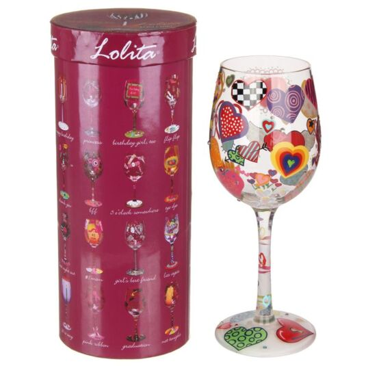 Heartrageous Boxed Wine Glass