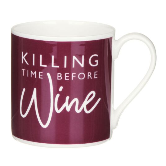 'Killing Time Before Wine' Mug