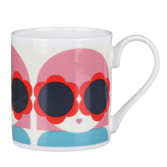 Red and Blue Lola Small Mug