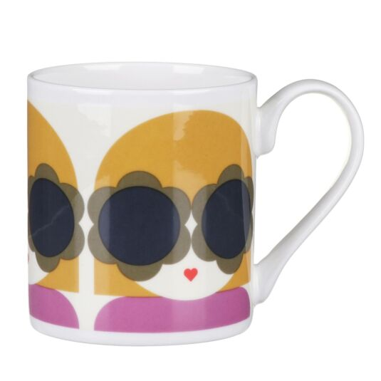 Yellow and Purple Lola Small Mug
