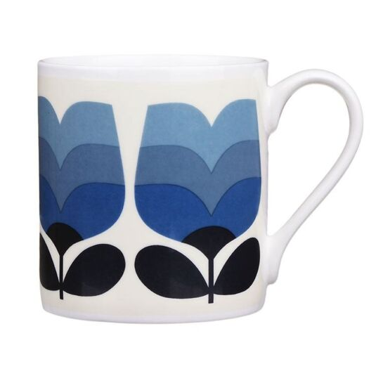 Periwinkle Tonal Striped Tulip Large Mug