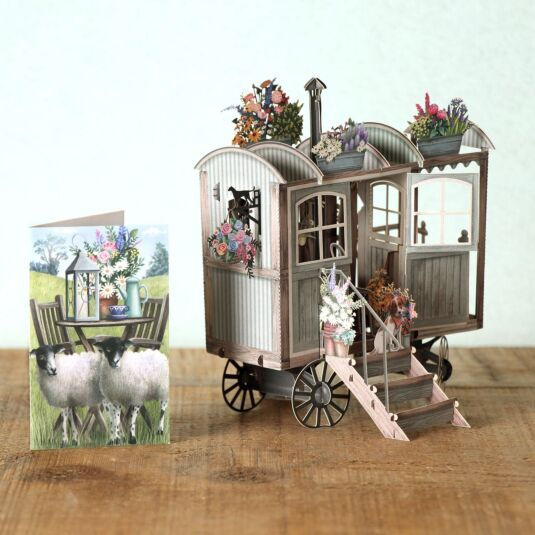 """Shepherd's Hut"" 3D Card"