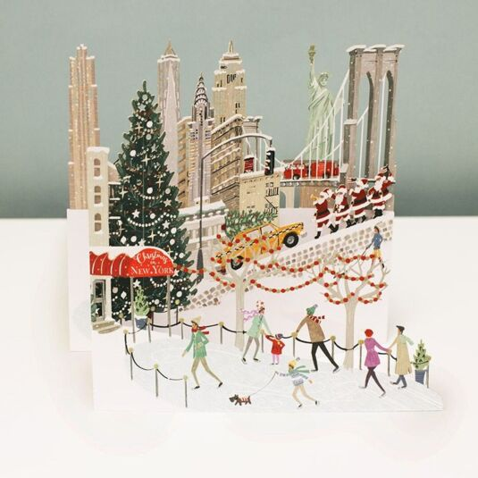 'New York' 3D Christmas Card