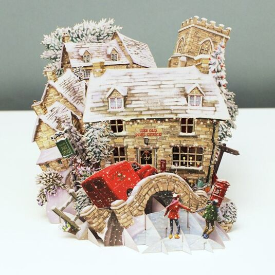 'Post Office' 3D Christmas Card