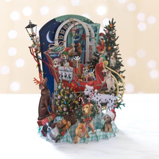 'Doggie Noel' Pop Up Christmas Card
