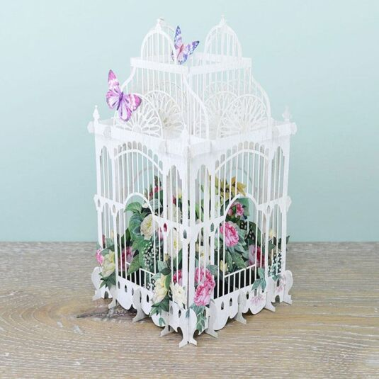 """The Flower Cage"" 3D Card"