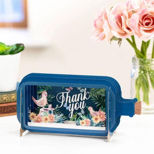 Birds and Butterflies Thank you Card