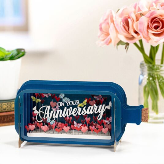 On Your Anniversary Message In A Bottle Card