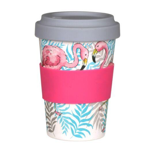 Flamingo Bamboo Travel Mug