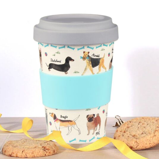 Debonair Dogs Bamboo Travel Mug