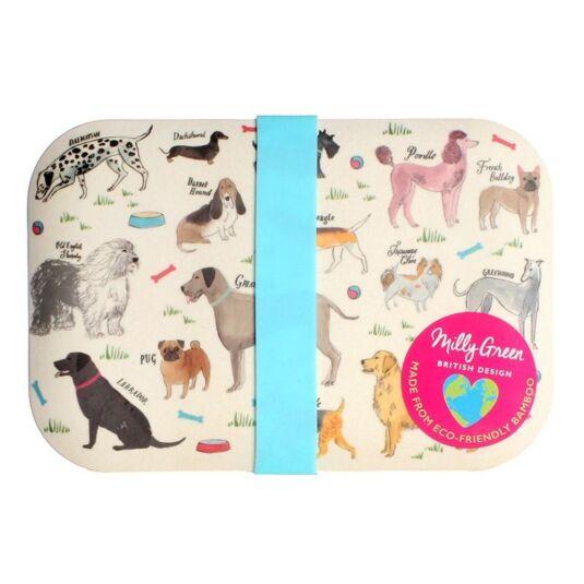 Debonair Dogs Bamboo Lunch Box