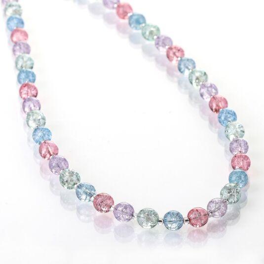 Pastel Crackle Globes Full Necklace
