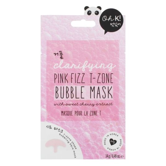 Oh K! Pink Fizz T-Zone Bubble Face Mask