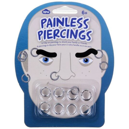 Painless Piercings - Silver Clip on Piercings