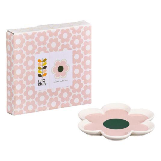 6 Petal Flower Pastel Pink Trinket Tray