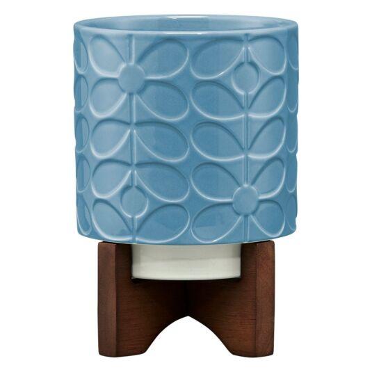 Sixties Stem Sky Ceramic Plant Pot